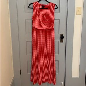 Land's End Fit & Flare Maxi Dress
